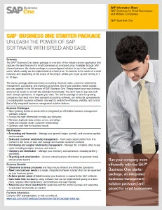 SAP Business One Affordable Starter Pack