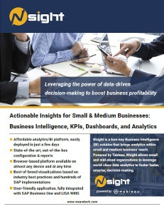 N'sight business intelligence for SAP Business One